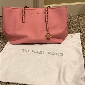 Pink Michael Kors tote bag